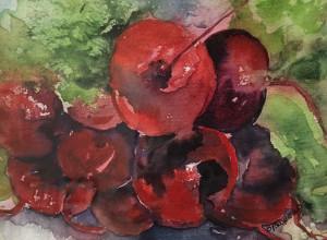Garden Fresh by Brenda Brunello 5 x 7 watercolor $125