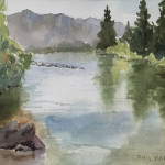 Logan River 6 x 10 by Phil Harrison $115