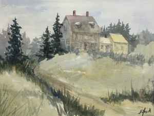 Olsen Home at Maine 13 x 10 by Eiko Anderson $300