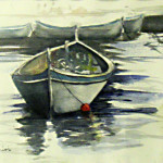 Open Boat watercolor by Phil Parisi $150 Copy