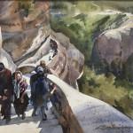 Pilgrimage_watercolor by Kristi Grussendorf  $NFS
