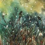 Sparrows in Snow by Elizabeth Snow $150