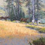 Horses At Dusk 20 x 30 oil 1,300