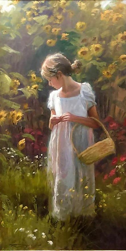 Sunflower Summer by Trent Gudmundsen 48 x 24 oil on panel $9,000_n - Copy
