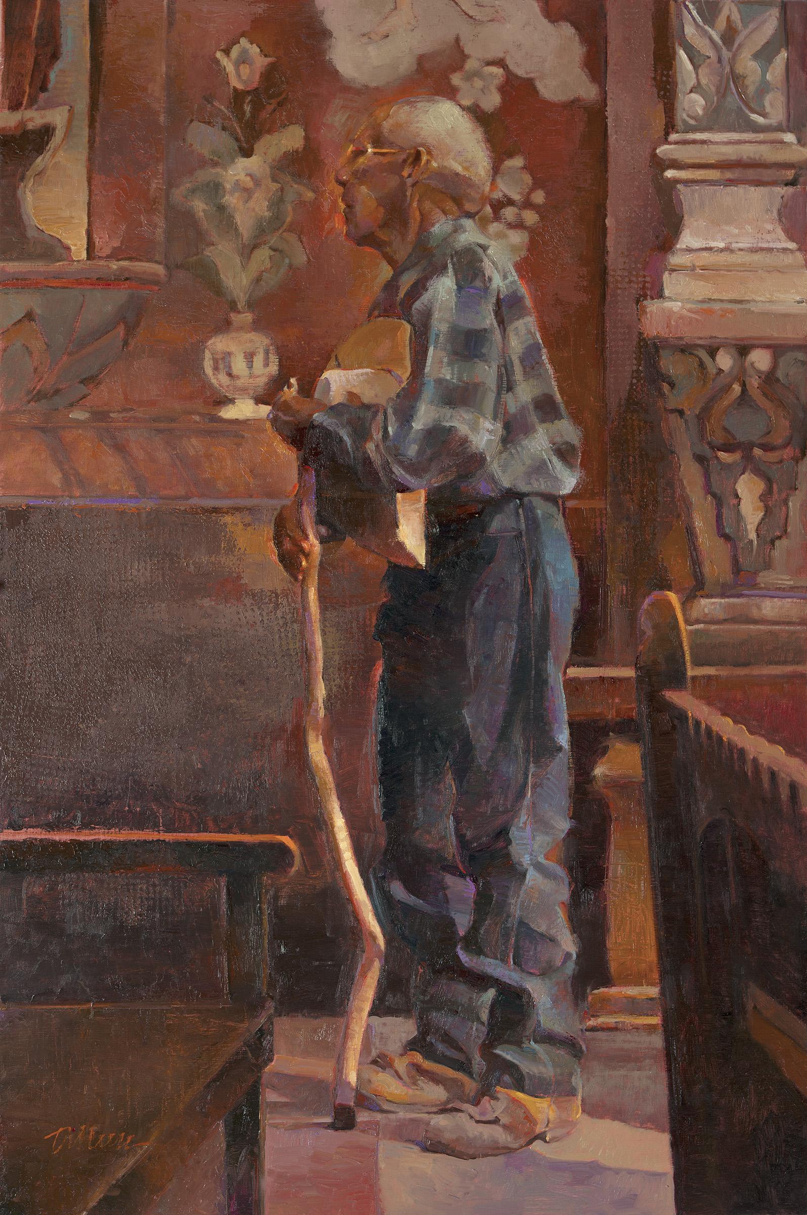 The Pilgrim by Dilleen Marsh 20 x 30 oil 3,800