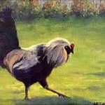 A Little Cocky by Lauri Eskelson 9x12 oil $600