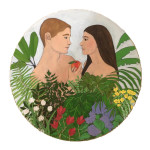 Adam and Eve by Emma Taylor 30 inch circumference oil on board $8,000