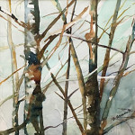 Can't See the Forest for the Trees by Brenda Brunello 8.25 x 8.25 Watercolor priced at $325