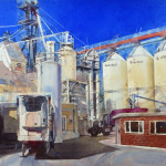 Flour Mill by Kristi Grussendorf 30x41 watercolor priced at $4,300