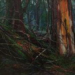 Forest Relics by Whitney Warwick 30x40 oil priced at $2,700  - Copy