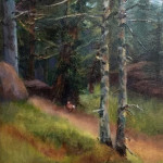 Into the Woods by Joan Justis 8x10 oil priced at $750