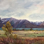 Lakeside Grazing by Cindy Roberts 16x20 oil priced at $360