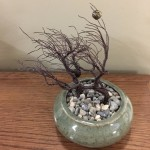 Storm in Plum by Sam Black 6 x 4 x 5 ceramic and wire NFS