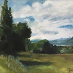 Valley in June by Jamie Lancaster 9x12 oil  priced at $550