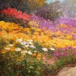Kent Wallis_Glowing Flower Fields_30 x 24 oil $7,700