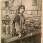 Mary Sauer_ Young Carpenter 10x8_ graphite_ $600